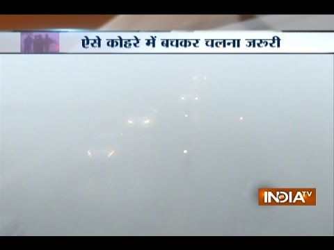 Dense Fog Covers Delhi; Over 60 Flights and Trains Delayed