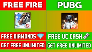gET FREE UC CASH & DIAMONDS IN PUBG AND FREE FIRE | DIRECTLY INTO THE ACCOUNT | 100% WORKING