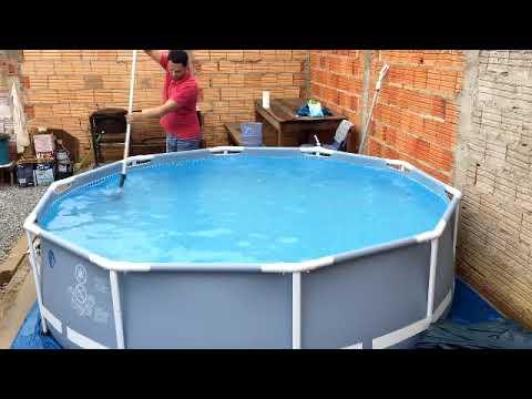 limpeza tratamento da gua piscina intex 4485 litros