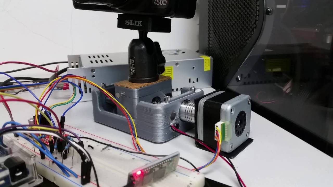 demo diy arduino bluetooth stepper motor camera slider