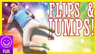 flips jumps at the trampoline park   kittiesmama 60