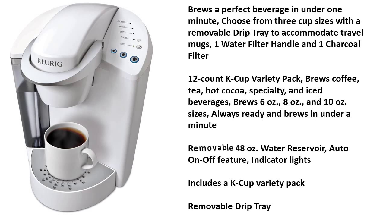 Keurig K45 Elite Brewing System Coconut White Review Youtube