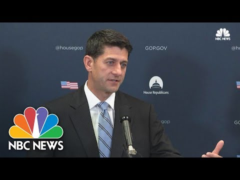 House Speaker Paul Ryan: Democrats 'Disgraceful' for Playing Politics With Debt Ceiling | NBC News