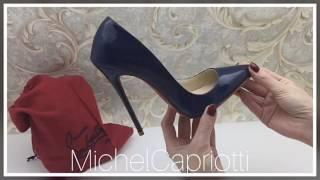 видео Туфли синего цвета