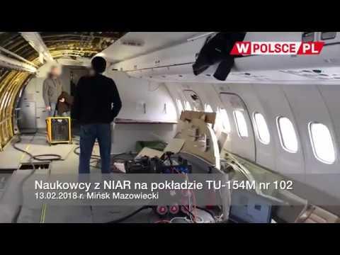 Naukowcy z NIAR na pokładzie TU-154M nr 102, 13.02.2018 r.