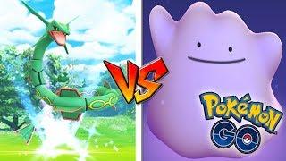 QUÉ PASA si USO DITTO CONTRA RAYQUAZA en Pokémon GO! Nuevo Legendario! [Keibron]