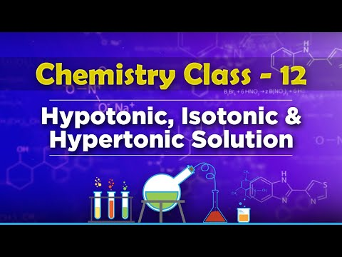 Hypotonic, Isotonic & Hypertonic Solution - Solution and Colligative Properties - Chemistry Class 12