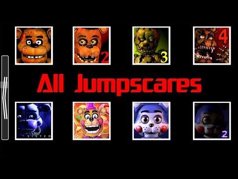 Animatronics Jumpscares In HD FNaF 1 2 3 4 5 6