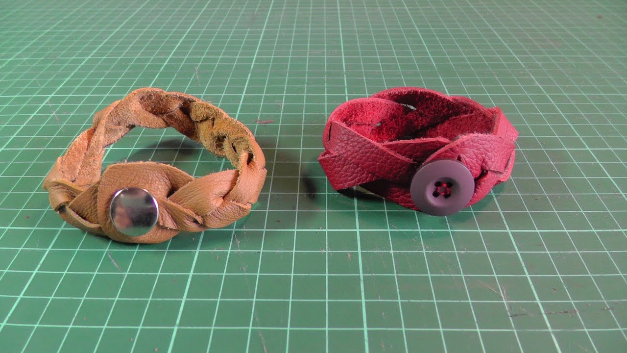 Lederarmband flechten aus einem stück  LEDERARMBAND FLECHTEN | DIY #2 | Stoffreste nähen / verwerten ...