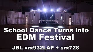 DJ GIG LOG 083 | Massive Homecoming | JBL vrx932lap srx728 | Large Trussing | EDM Style Concert