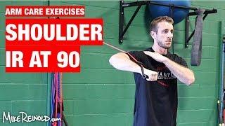 Shoulder Tubing IR at 90 Degrees Exercise - Arm Care Shoulder Program