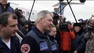 Expedition 42 Landing and Post-Landing Activities