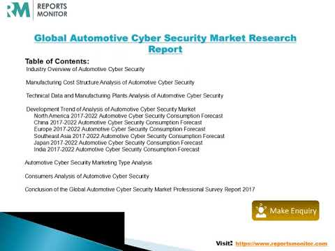 Automotive Cyber Security Market Outlook 2018:Upcoming Trends Forecast by  2023