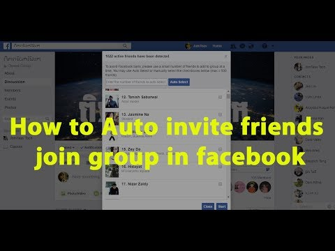 How to auto invite friends to join group in facebook ld youtube how to auto invite friends to join group in facebook ld stopboris Images
