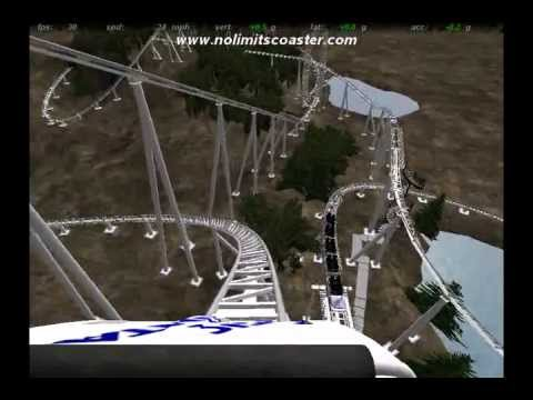 Magic Mountain Revolution roller coaster 1976 POV (NoLimits re-creation)