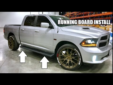 Ram 1500 Running Boards >> How To Install Iboard Running Boards On Your Truck Ram 1500 2500
