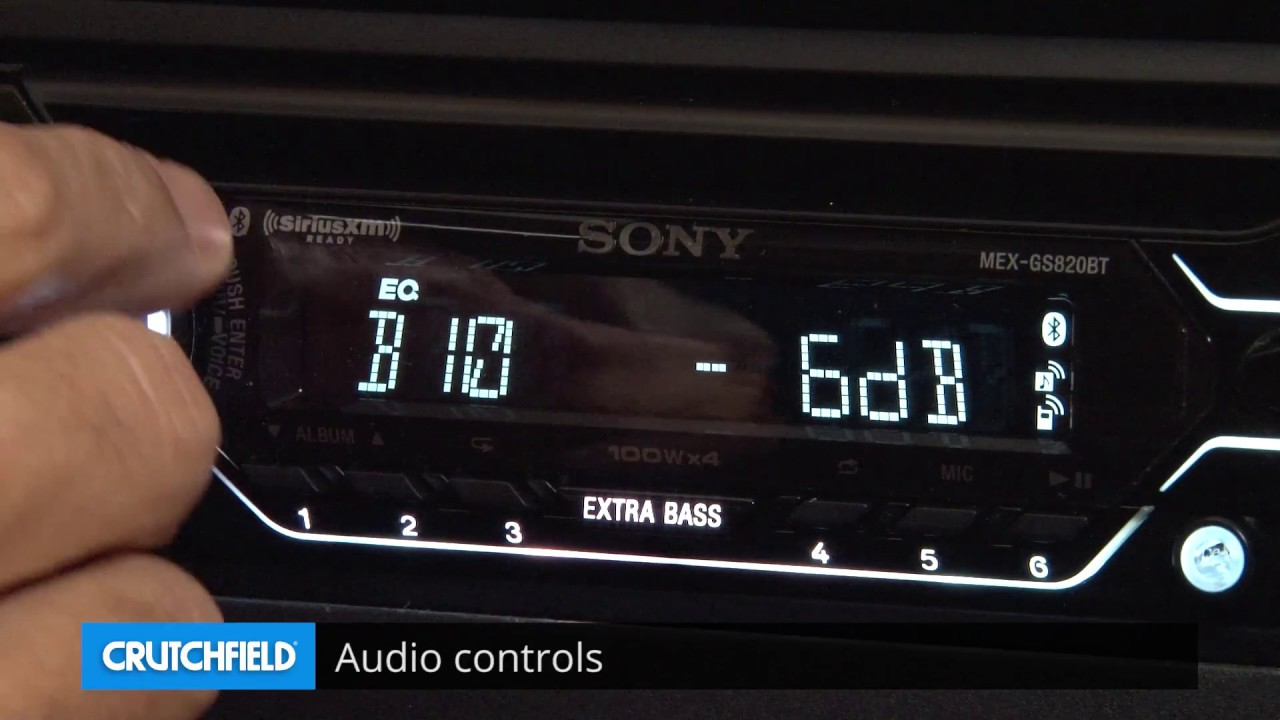 Sony Mex Gs820bt Display And Controls Demo