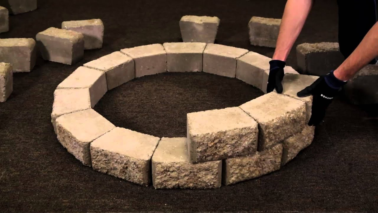 How to Install a Hudson Stone Fire Pit Kit - YouTube