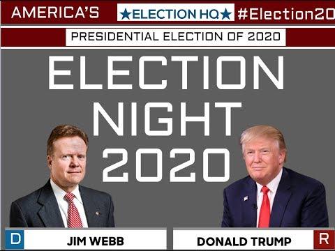 2020 Election Night | Jim Webb vs Donald Trump