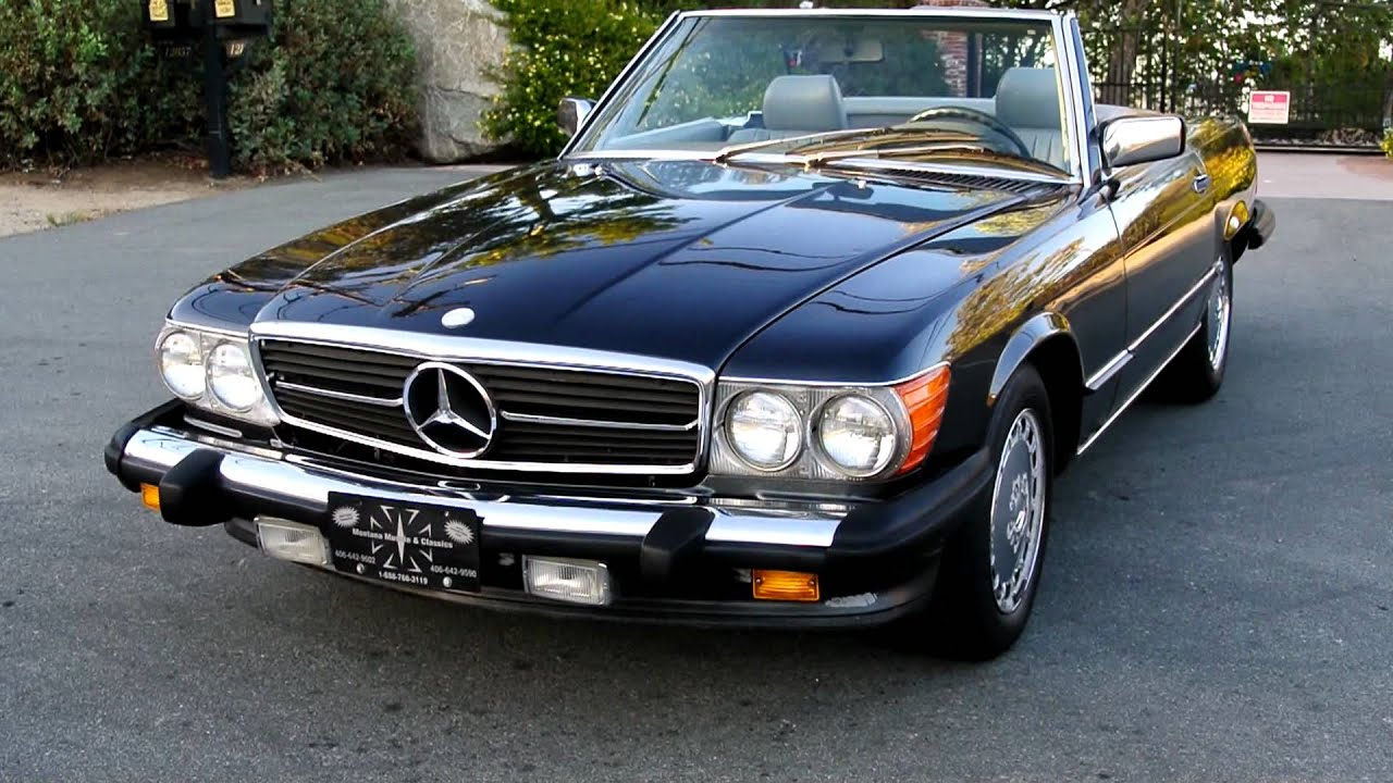 1986 mercedes benz 560sl r107 roadster 1 owner 560 sl. Black Bedroom Furniture Sets. Home Design Ideas