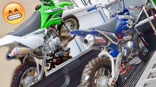 INSANE FULL BBR TTR50!!!   CEREKOTED ALTA PARTS   PIT BIKE EXHAUST IS FINISHED