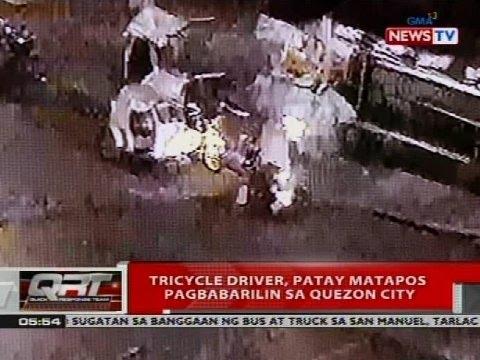 QRT: Tricycle driver, patay matapos pagbabarilin sa Quezon City