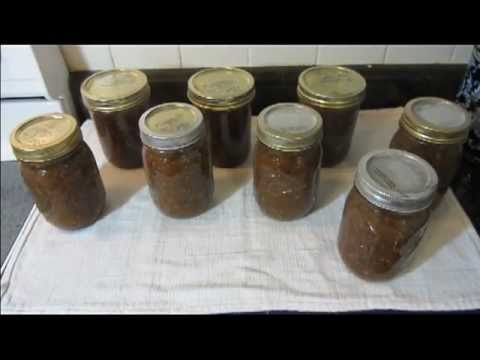 Canning Tomatillo Chile de Arbol Salsa -- homemade