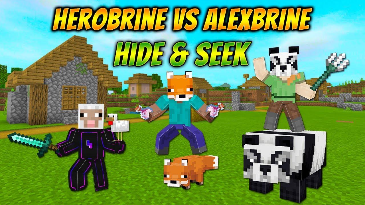 Download Minecraft Herobrine vs Alexbrine Hide and Seek | Herobrine Funniest Hide and Seek