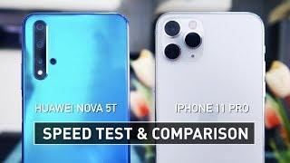 Nova 5T vs iPhone 11 Pro SPEED TEST  Zeibiz