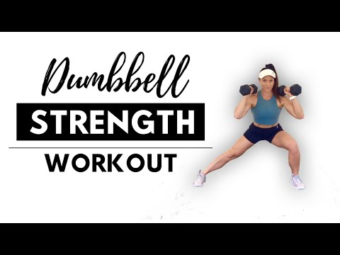 FULL BODY STRENGTH TRAINING FOR WOMEN -Strength Workout with Dumbbells At Home