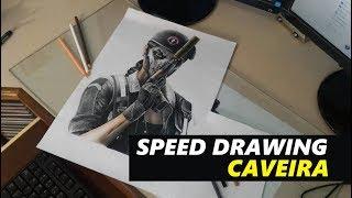 SPEED DRAWING - Desenhando CAVEIRA   Rainbow Six