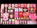 Special Series PINK Hello Kitty   Mixing Random Things into Slime   Satisfying slime videos
