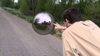 mirror ball floating ripples