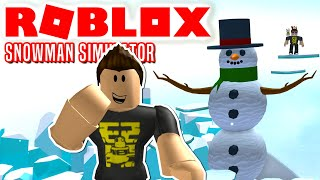 EN MEGA HØJ SNEMAND! - Roblox Snowman Simulator Dansk Ep 1