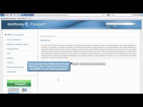 WebMoney Passport: How To Receive A Formal Passport