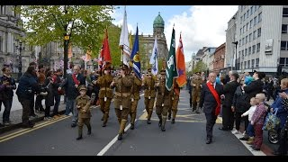 36th Ulster Division March Past Belfast City Hall 8/5/2015