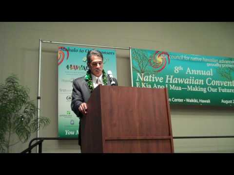 Lt. Gov. Duke Aiona addresses 2009 Native Hawaiian Convention