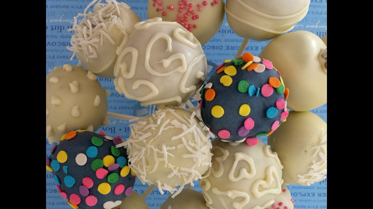 How to make dip and decorate cake pops how to cook that - How to make decorative cakes ...