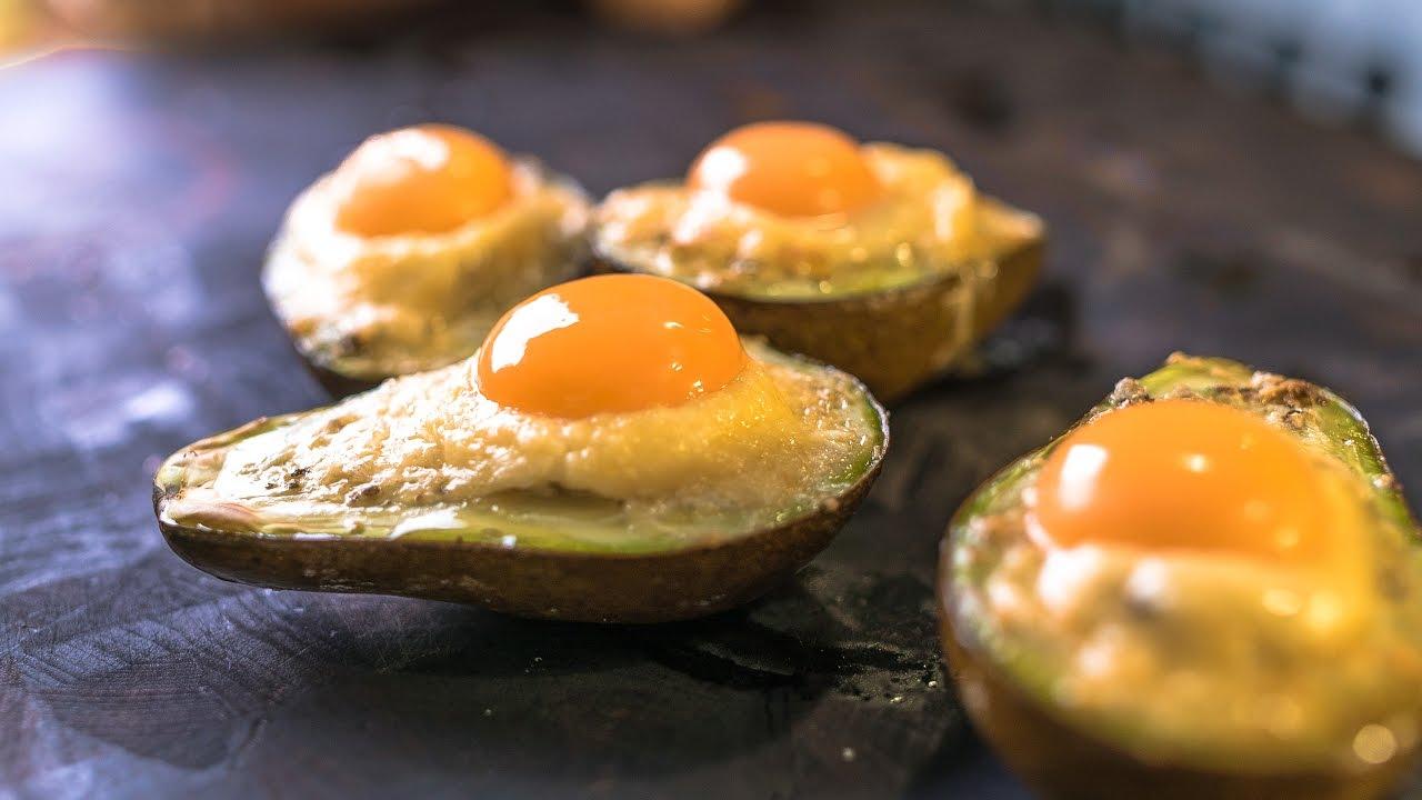 Авокадо с яйцом и сыром. Неожиданно вкусно!