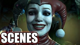 INJUSTICE 2 - All Harley Quinn Scenes - Story Mode
