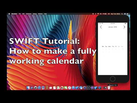 Swift tutorial : How to create a fully working Calendar with a view lines of code thumbnail