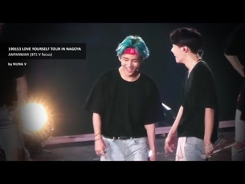 190113 LOVE YOURSELF Tour - ANPANMAN / BTS V / 방탄소년단 뷔 (4K Fancam)