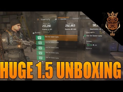 The Division HUGE 1.5 Survival Unboxing! Green Gear Sets And Gold High End 256 Items
