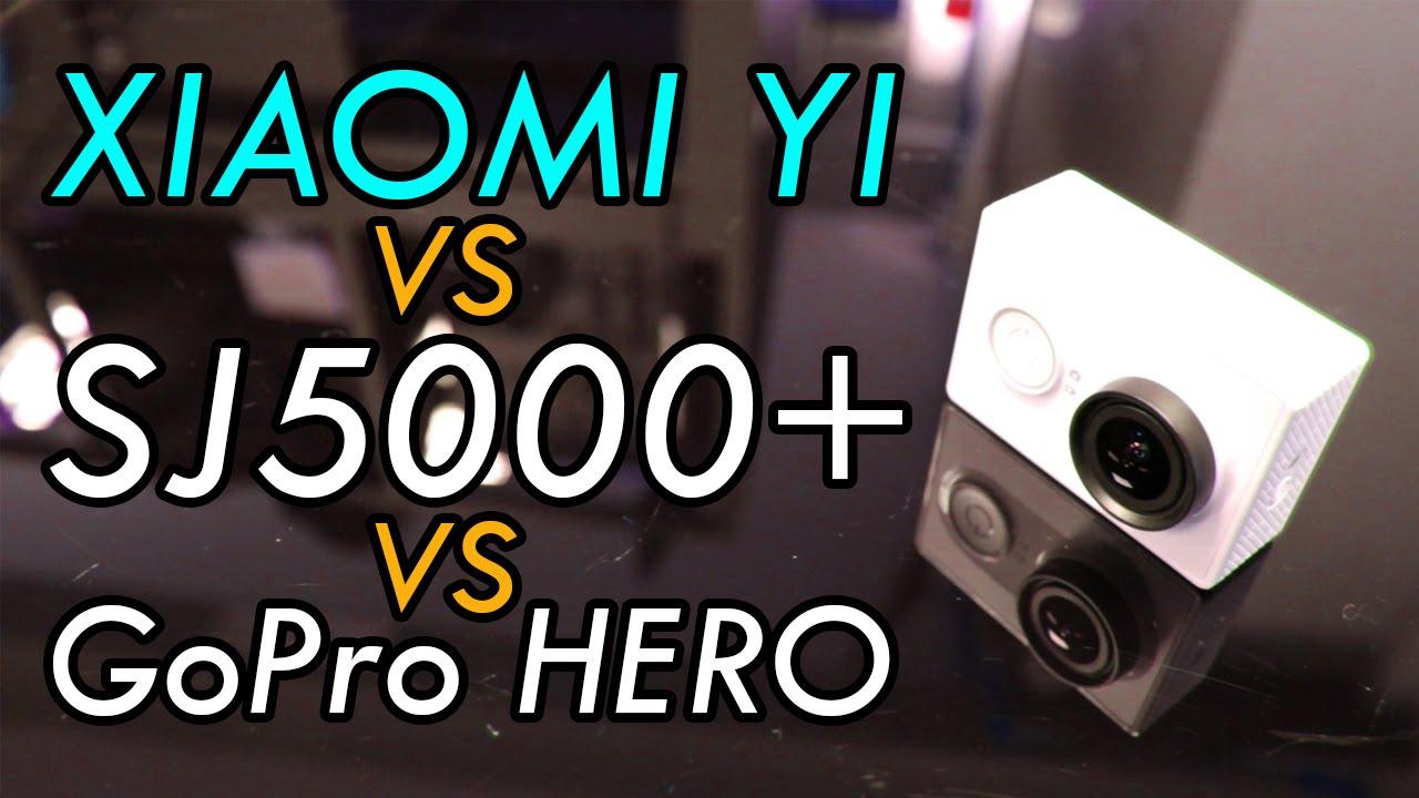 Xiaomi yi vs sjcam sj5000 vs gopro hero action camera comparison video youtube