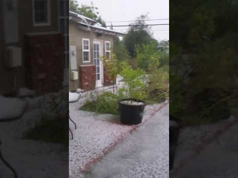 West covina hail storm part 2 may 7, 2017