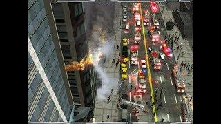 HUGE FDNY RESPONSE TO A HIGHRISE FIRE   Emergency 4 Manhattan Mod