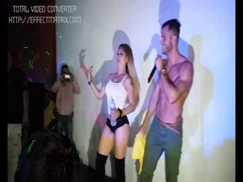 Fabio Agostini y Karla Corzo politos mojados