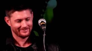 Jensen Ackles, Rob Benedict and Jason Manns singing Tennessee Whiskey at Jailbreak