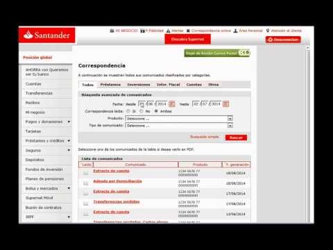 Banco Santander - Consulta tu correspondencia online