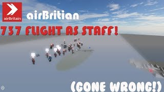 CRASHED | airBritain 737-MAX FLIGHT WORKING | ROBLOX